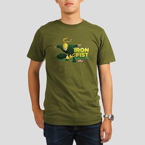 Marvel Iron Fist Organic Men's T-Shirt (dark)