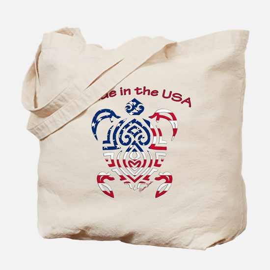 Made in the USA Tribal Turtle Tote Bag