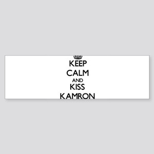 Keep Calm and Kiss Kamron Bumper Sticker
