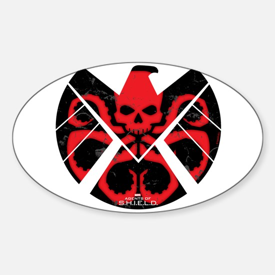 S.H.I.E.L.D. Hydra Sticker (Oval)