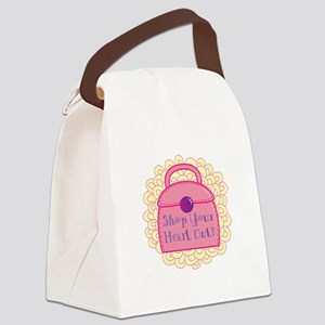 Shop Your Heart Out! Canvas Lunch Bag