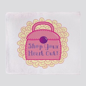 Shop Your Heart Out! Throw Blanket