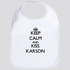 Keep Calm and Kiss Karson Bib