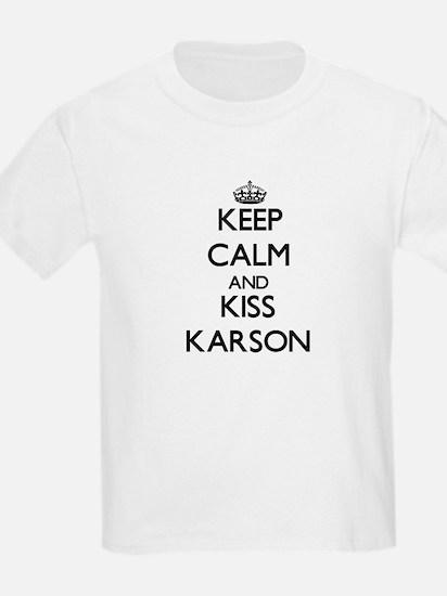 Keep Calm and Kiss Karson T-Shirt