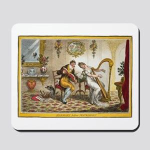 Victorian Courtship and Harp Music Mousepad