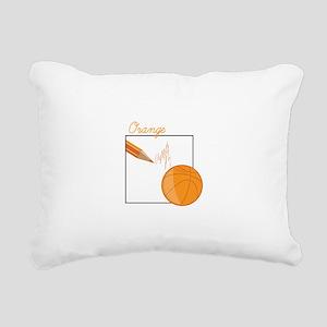 Orange Rectangular Canvas Pillow