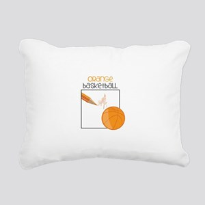 Orange Basketball Rectangular Canvas Pillow