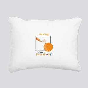 My Favorite Color Rectangular Canvas Pillow