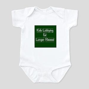 Kids Lobbying for Longer Recess! Infant Bodysuit