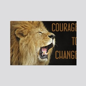 Courage To Change Rectangle Magnet