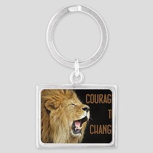 Courage To Change Landscape Keychain