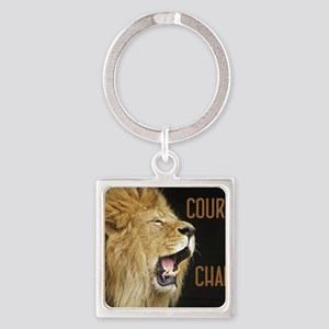 Courage To Change Square Keychain