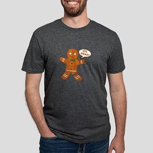Oh Snap Gingerbread Man Mens Tri-blend T-Shirt