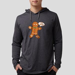 Oh Snap Gingerbread Man Mens Hooded Shirt