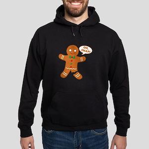 Oh Snap Gingerbread Man Hoodie (dark)