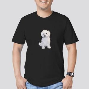 Bolognese Puppy Men's Fitted T-Shirt (dark)