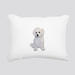 Bolognese Puppy Rectangular Canvas Pillow