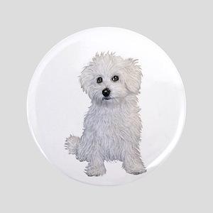 "Bolognese Puppy 3.5"" Button"