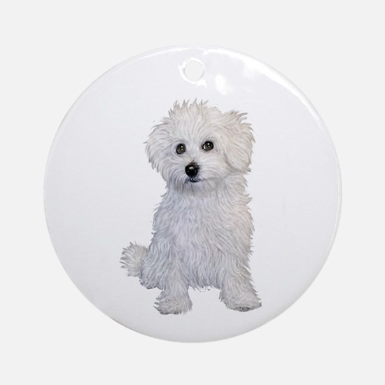 Bolognese Puppy Ornament (round)