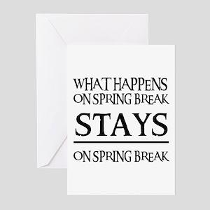 SPRING BREAK Greeting Cards (Pk of 10)
