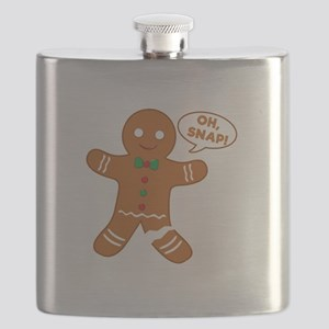 Oh Snap Gingerbread Man Flask
