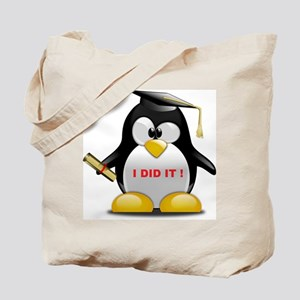 I DID IT , GRADUATION PENGUIN Tote Bag