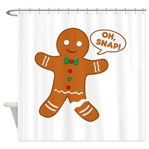 Oh Snap Gingerbread Shower Curtains