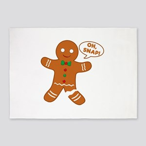 Oh Snap Gingerbread Man 5'x7'Area Rug