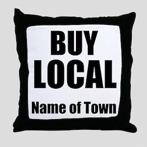 Buy Local Throw Pillow