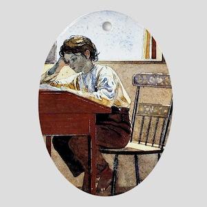 Winslow Homer - Homework Oval Ornament