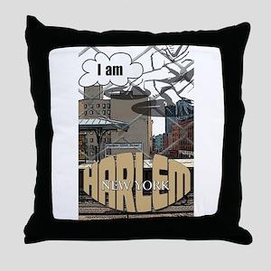 I AM HARLEM Throw Pillow