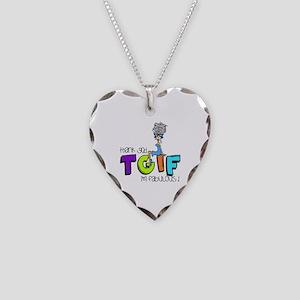 Thank God I'm Fabulous Necklace Heart Charm