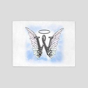 Letter W Monogram 5'x7'Area Rug