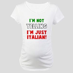 Yell Italian Maternity T-Shirt