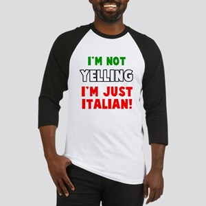Yell Italian Baseball Jersey