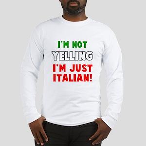 Yell Italian Long Sleeve T-Shirt