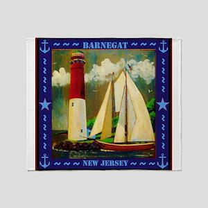 Barnegat Lighthouse Throw Blanket