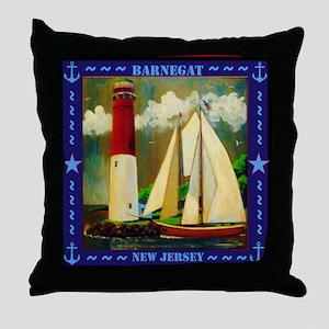 Barnegat Lighthouse Throw Pillow