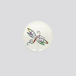 Colorful dragonfly Mini Button