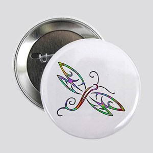"Colorful dragonfly 2.25"" Button"