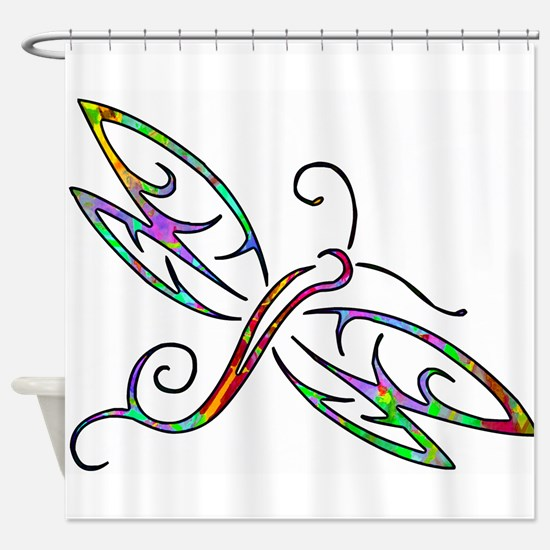 Colorful dragonfly Shower Curtain