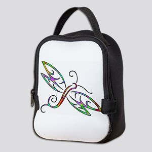 Colorful dragonfly Neoprene Lunch Bag