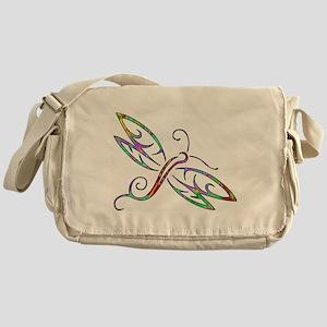 Colorful dragonfly Messenger Bag