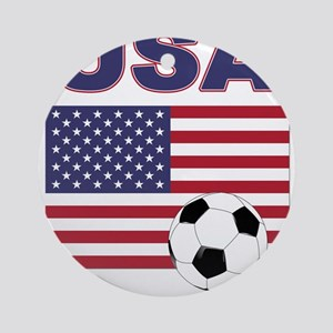 USA soccer Ornament (Round)