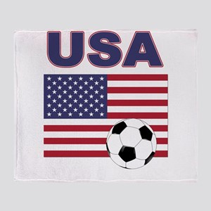 USA soccer Throw Blanket