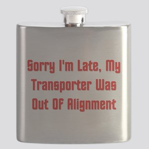 My Transporter Was Out Of Alignment Flask
