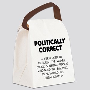 Politically Correct Pansies Canvas Lunch Bag