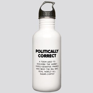 Politically Correct Pansies Water Bottle