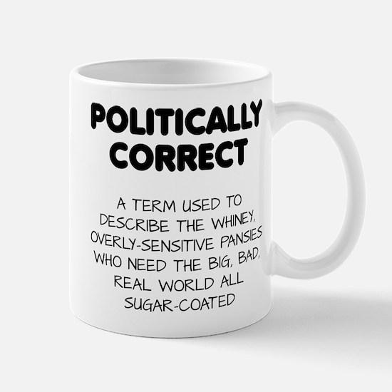 Politically Correct Pansies Mugs