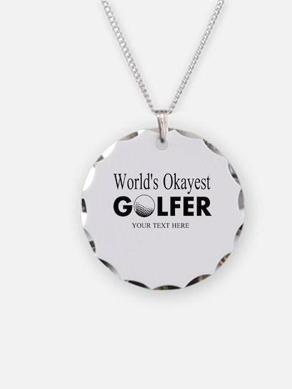 Worlds Okayest Golfer | Funny Golf Necklace